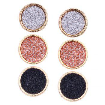 Colorful Shining Alloy Round Stud Earrings Set - COLORFUL COLORFUL