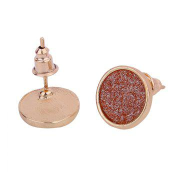 Colorful Shining Alloy Round Stud Earrings Set - COLORFUL