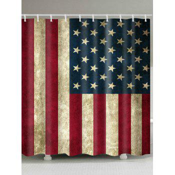 Waterproof Fabric Patriotic American Flag Print Shower Curtain - COLORMIX COLORMIX