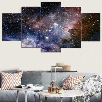 Galaxy Starry Print Unframed Split Canvas Paintings - COLORFUL COLORFUL