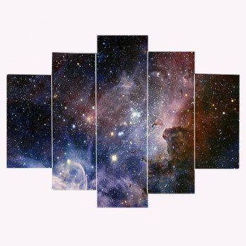 Galaxy Starry Print Unframed Split Canvas Paintings - COLORFUL 1PC:12*31,2PCS:12*16,2PCS:12*24 INCH( NO FRAME )