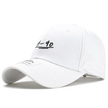 Unique 19-90 Pattern Embroidery Adjustable Sunscreen Hat - WHITE WHITE