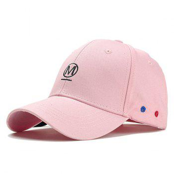 Unique Letter Embroidery Fringed Snapback Hat - PINK PINK