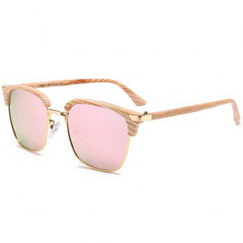 Unique Semi-frame Square Lightweight Sunglasses - PINK PINK