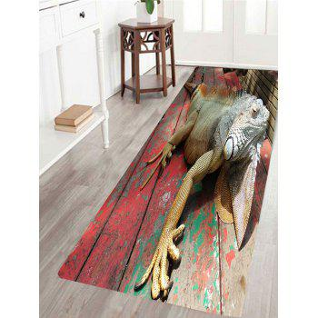 Wood 3D Lizard Print Indoor Outdoor Area Rug - COLORFUL COLORFUL