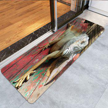 Wood 3D Lizard Print Indoor Outdoor Area Rug - COLORFUL W16 INCH * L47 INCH