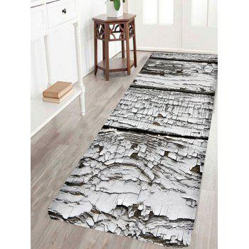 Rotten Old Wood Print Indoor Outdoor Area Rug - GREY WHITE GREY WHITE