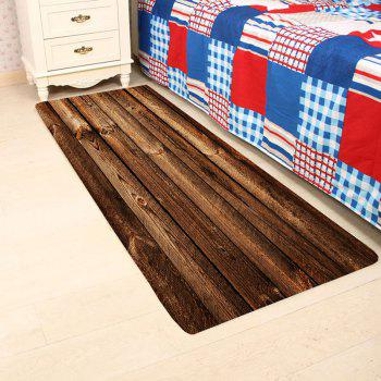Wood Board Print Indoor Outdoor Area Rug - BROWN W16 INCH * L47 INCH