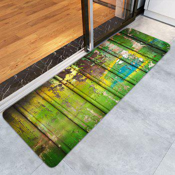 Skidproof Oil Paint Plank Pattern Rug - COLORFUL COLORFUL