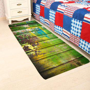 Skidproof Oil Paint Plank Pattern Rug - COLORFUL W16 INCH * L47 INCH