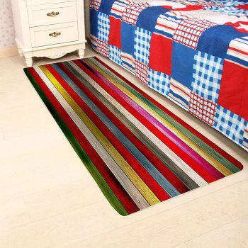 Colorful Laths Printed Skidproof Area Rug - COLOUR LONG FOX W16 INCH * L47 INCH