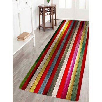 Colorful Laths Printed Skidproof Area Rug - 7 COLOUR LONG FOX  COLOUR LONG FOX