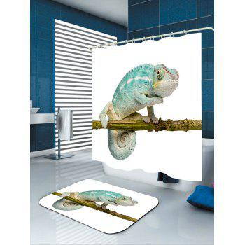 Chameleon Stand on the Tree Printed Bath Curtain - COLORFUL COLORFUL