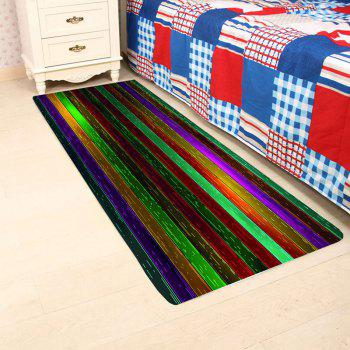 Nonslip Rainbow Plank Print Floor Area Rug - COLORFUL W24 INCH * L71 INCH