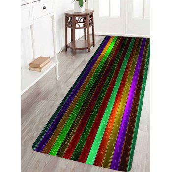 Nonslip Rainbow Plank Print Floor Area Rug - COLORFUL COLORFUL