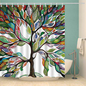 Colorful Tree of Life Print Waterproof Shower Curtain - COLORFUL W71 INCH * L71 INCH
