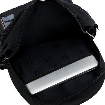 Letter Multi Usage Laptop Backpack - BLACK