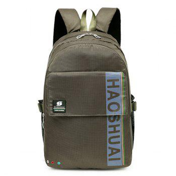 Letter Multi Usage Laptop Backpack - ARMY GREEN ARMY GREEN