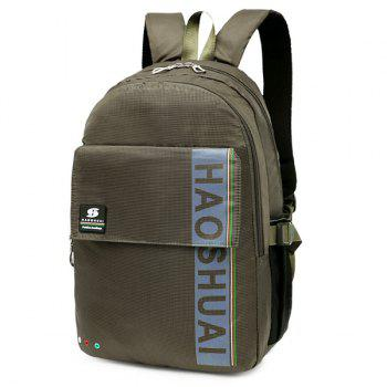 Letter Multi Usage Laptop Backpack -  ARMY GREEN