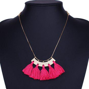Statement Alloy Tassel Pendant Necklace -  SANGRIA