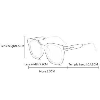 Anti UV Full Frame Polarized sunglasses -  REFLECTIVE WHITE COLOR