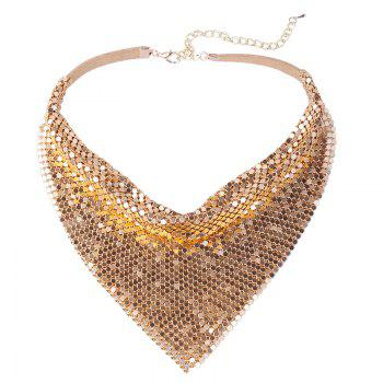 Geometrical Paillettes Decorated Choker Necklace -  GOLDEN