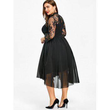 Plus Size Empire Waist Gothic Dress - BLACK 2XL