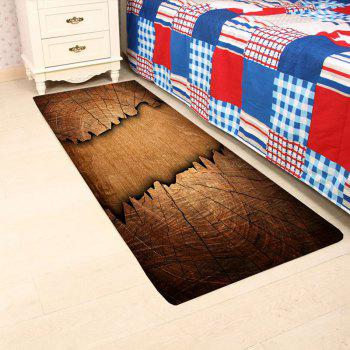 Cracked Wooden Print Indoor Outdoor Area Rug - BROWN BROWN
