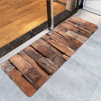 Wood Board Pattern Indoor Outdoor Area Rug - WOOD COLOR W16 INCH * L47 INCH