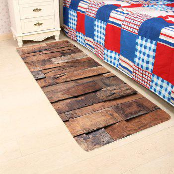 Wood Board Pattern Indoor Outdoor Area Rug - WOOD COLOR W24 INCH * L71 INCH