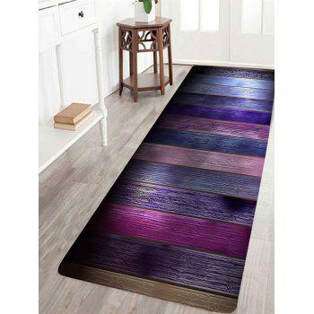Colorful Wood Grain Patterned Skidproof Rug - COLORFUL COLORFUL