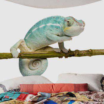 Chameleon Stand on the Tree Printed Decorative Tapestry - BLUE W59 INCH * L51 INCH