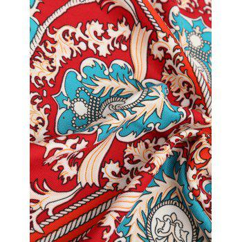 Tassel Baroque Print Beach Throw - RED ONE SIZE