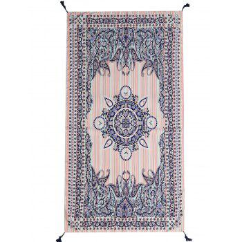 Tassel Paisley Print Beach Throw - PINK PINK