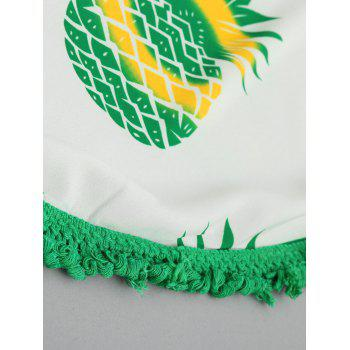 Pineapple Print Tassel Beach Throw - YELLOW/GREEN ONE SIZE