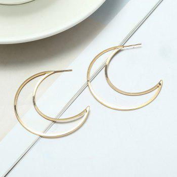 Moon Design Drop Earrings - GOLDEN