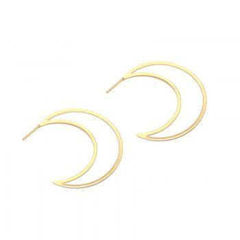 Moon Design Drop Earrings - GOLDEN GOLDEN