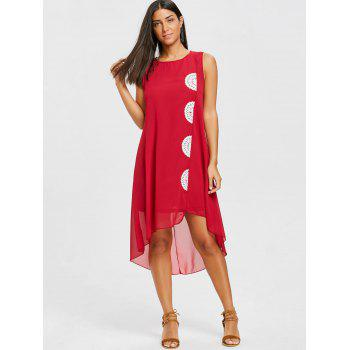Robe en mousseline de soie - Rouge vineux S