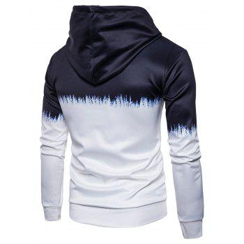 UFO Skull Planet Scrawl Pullover Hoodie - COLORMIX 3XL
