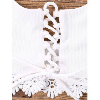 Lace Up U Bikini - Blanc L