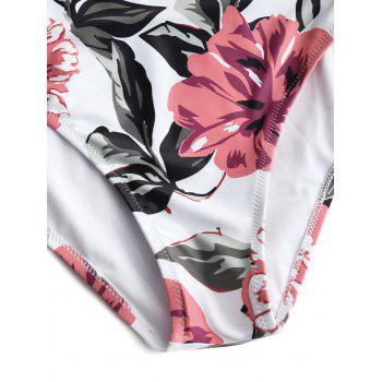 Push Up Floral Underwire One Piece Swimwear - FLORAL S