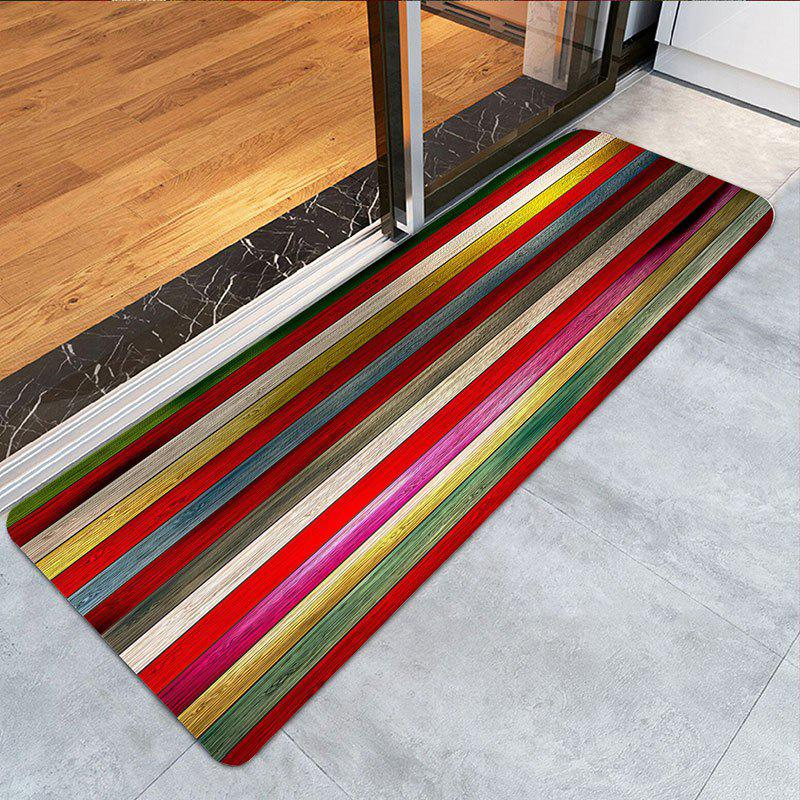 Colorful Laths Printed Skidproof Area Rug - COLOUR LONG FOX W24 INCH * L71 INCH