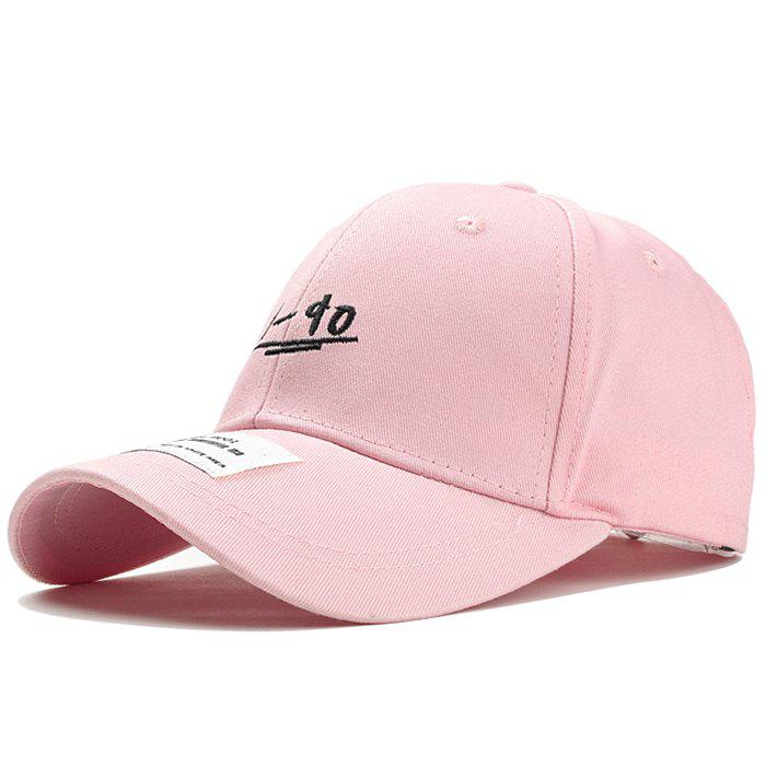 Unique 19-90 Pattern Embroidery Adjustable Sunscreen Hat - PINK
