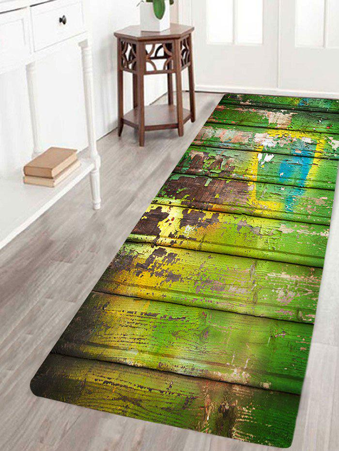 Skidproof Oil Paint Plank Pattern Rug - COLORFUL W24 INCH * L71 INCH