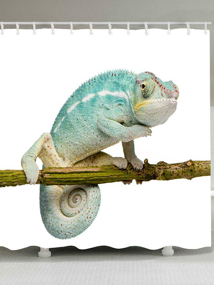 Chameleon Stand on the Tree Printed Bath Curtain - COLORFUL W71 INCH * L71 INCH