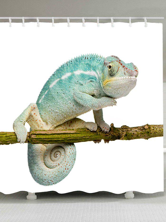 Chameleon Stand on the Tree Printed Bath Curtain - COLORFUL W59 INCH * L71 INCH