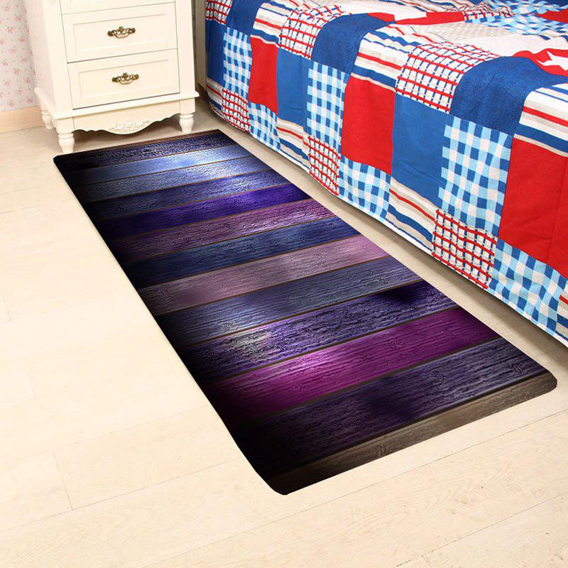 Colorful Wood Grain Patterned Skidproof Rug - COLORFUL W16 INCH * L47 INCH