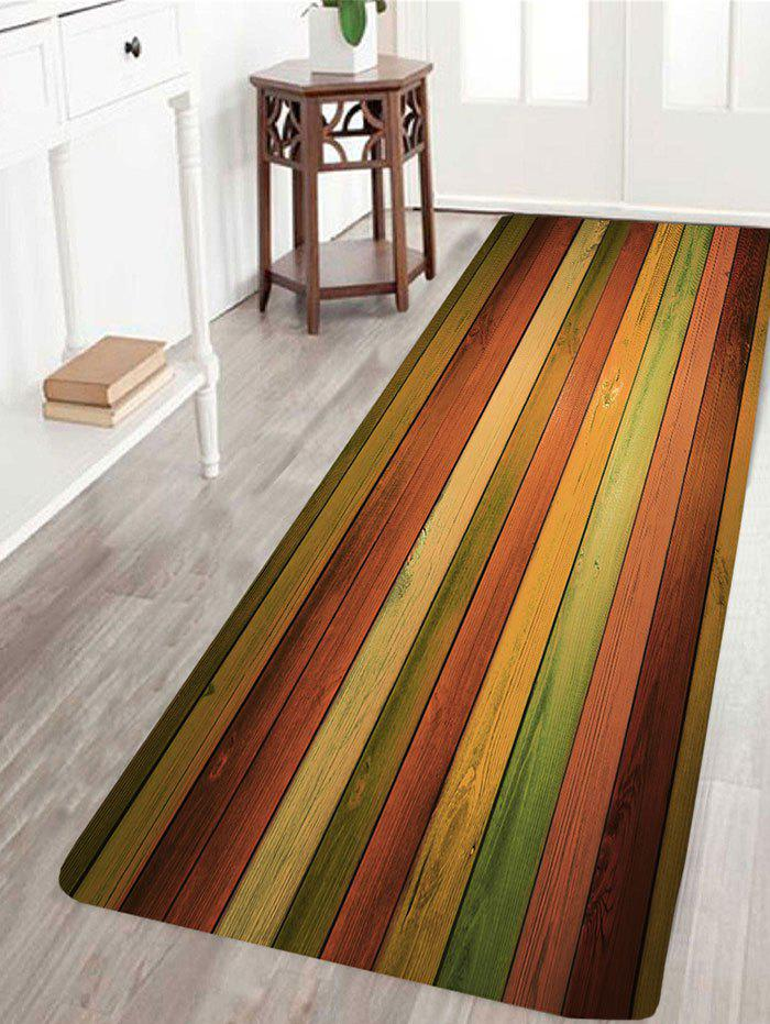 Vintage Colorful Laths Printed Skidproof Area Rug - COLORFUL W24 INCH * L71 INCH