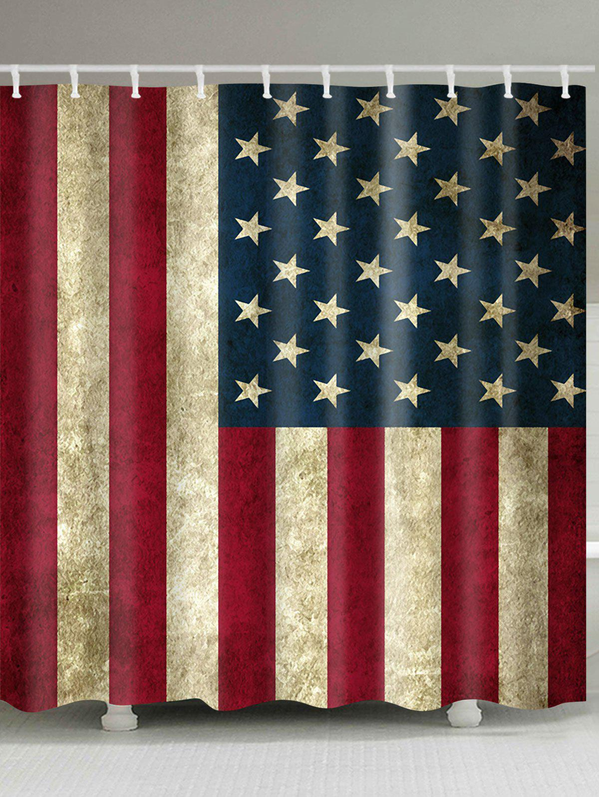 2018 waterproof fabric patriotic american flag print for Bathroom accessories kuwait