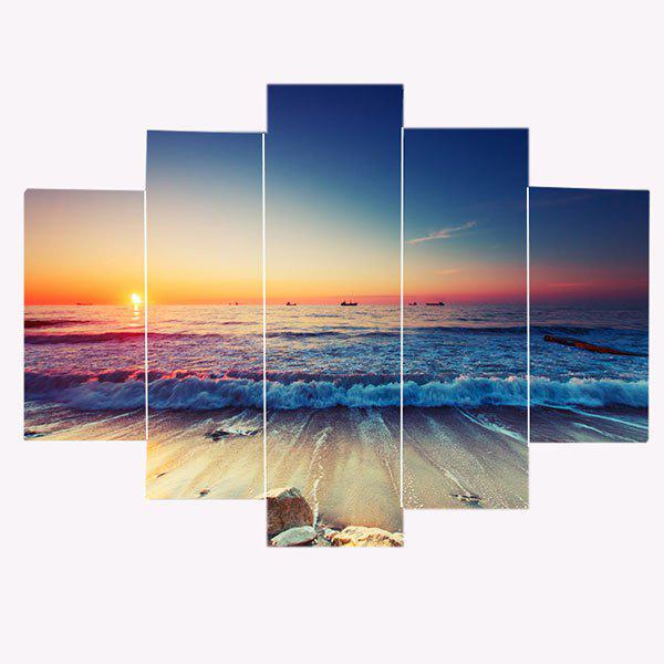 Sunset Seascape Patterned Canvas Wall Art Paintings - COLORFUL 1PC:12*31,2PCS:12*16,2PCS:12*24 INCH( NO FRAME )